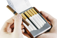 Cigarette case Royalty Free Stock Photo