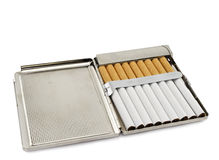 Cigarette-case. Isolated on white background Royalty Free Stock Photos
