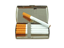 Cigarette case Stock Photography
