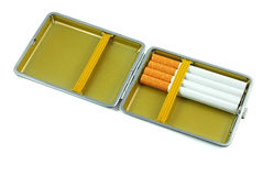 Cigarette case Royalty Free Stock Images
