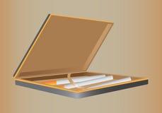 CIGARETTE-CASE. Pocket box for storage of cigarettes Vector Illustration