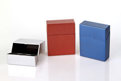 Cigarette cases Royalty Free Stock Images