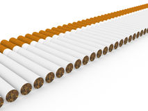Cigarette. Classical cigarette with the filter on a white background Stock Images