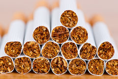 Cigarette close up Stock Photography