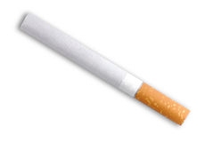 Cigarette in close-up Stock Photo
