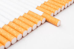 Cigarette closeup Royalty Free Stock Image