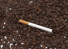Cigarette and coffee Royalty Free Stock Image