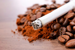Cigarette and coffee Stock Photography