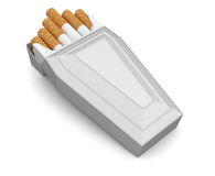 Cigarette and coffin (clipping path included) Stock Image