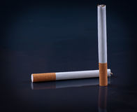 Cigarette on black background Stock Photography