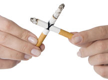 Cigarette cross Royalty Free Stock Images