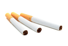 Cigarette d'isolement sur le blanc photo stock
