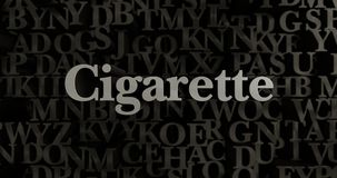 Cigarette - 3D rendered metallic typeset headline illustration. Can be used for an online banner ad or a print postcard Stock Photos