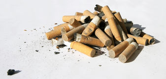 cigarette de bout Images libres de droits