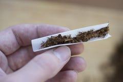 Cigarette de tabac de roulement Photo libre de droits