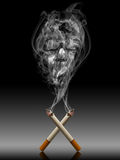 Cigarette with deadly smoke - Tabac kills life con. Cept Stock Photography