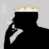 The cigarette dependence Stock Photo