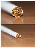 Cigarette detail Royalty Free Stock Photo