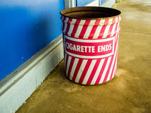 Cigarette end can Royalty Free Stock Images