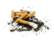 Cigarette Ends Royalty Free Stock Photography