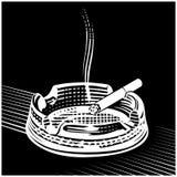 Cigarette engraving. Vintage in  cigarette engraving Stock Image
