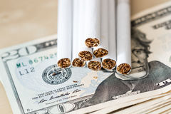Cigarette Expenses Royalty Free Stock Image