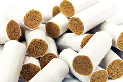 Cigarette filter tips Royalty Free Stock Photos
