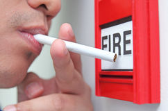 Cigarette And Fire Royalty Free Stock Photography