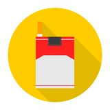 Cigarette Flat Icon With Long Shadow Stock Image