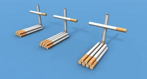 Cigarette graves Royalty Free Stock Image
