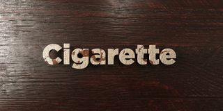 Cigarette - grungy wooden headline on Maple  - 3D rendered royalty free stock image. This image can be used for an online website banner ad or a print postcard Royalty Free Stock Photos