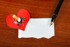 Cigarette with the Heart Shape and Paper Royalty Free Stock Photo