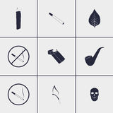 Cigarette icons Royalty Free Stock Photo