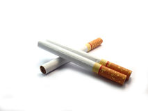 Cigarette on isolated Stock Photo