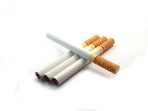 Cigarette on isolated Royalty Free Stock Photo
