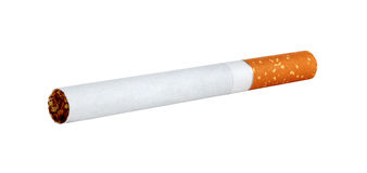Cigarette isolated on white Stock Photography