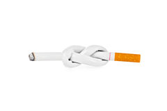Cigarette with knot Royalty Free Stock Photography
