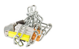 Cigarette, Lighter and Chains VI Royalty Free Stock Photography
