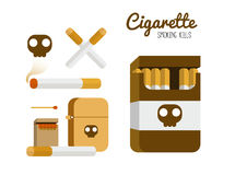 Cigarette and lighter set. Stock Photos