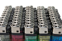 Cigarette lighters isolated Royalty Free Stock Image