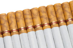 Cigarette Line Up Stock Photo