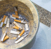 Cigarette litter Royalty Free Stock Photography