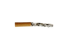 Cigarette with long ash Stock Photos