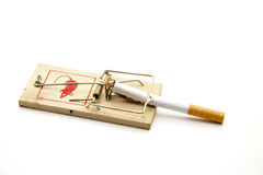 Cigarette with mousetrap Stock Image