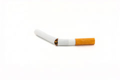 Cigarette. Objective picture, white background Royalty Free Stock Photos