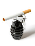 Cigarette On Grenade Royalty Free Stock Photos