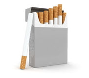 Cigarette Pack  (clipping path included) Stock Images