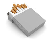 Cigarette Pack  (clipping path included) Stock Photo