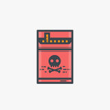 Cigarette pack illustration. Cigarette pack. Cigarette with yellow filter in package. Modern line style vector illustration Royalty Free Stock Images