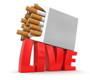 Cigarette Pack and Live (clipping path included) Stock Photography
